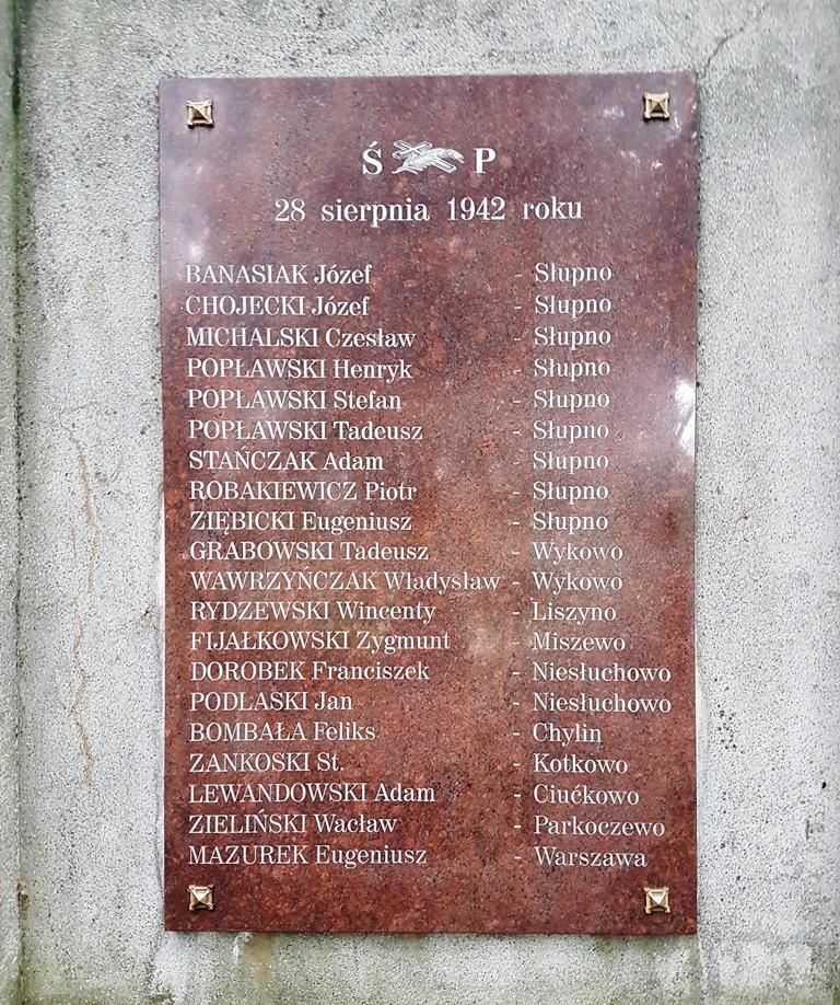 75 rocznica niemieckiego mordu na mieszkańcach Słupna i okolic