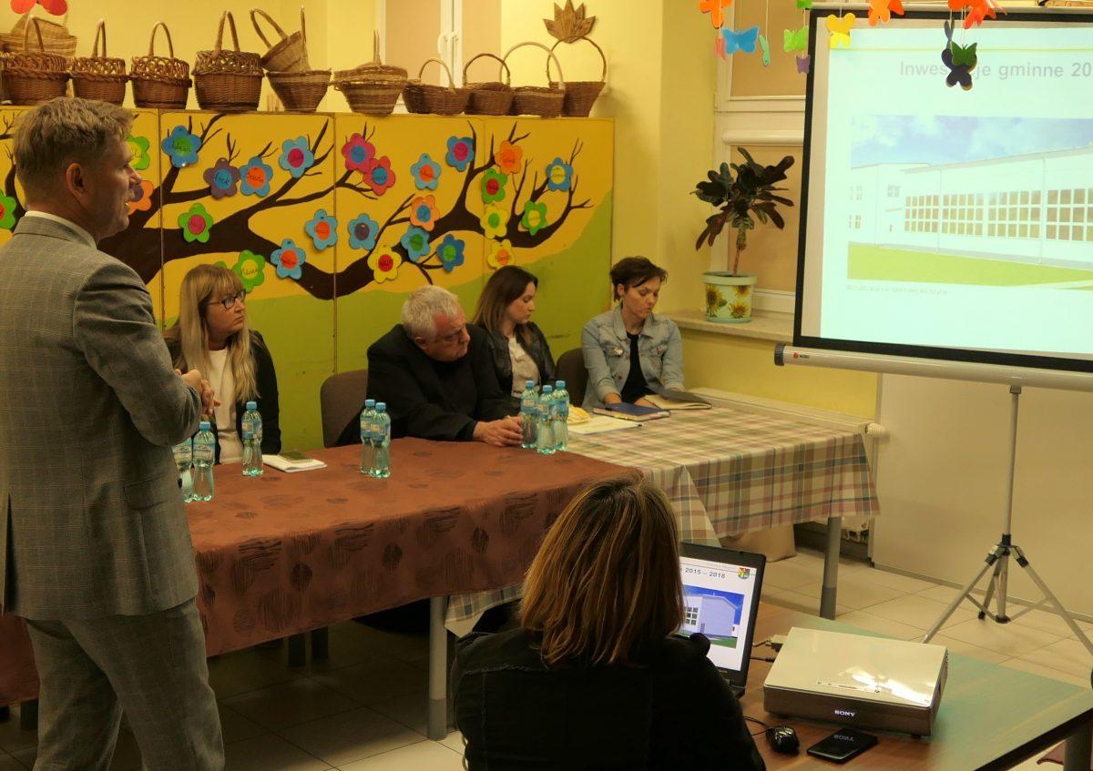 Spotkanie wójta Marcina Zawadki z mieszkańcami Starego Gulczewa oraz Mirosławia