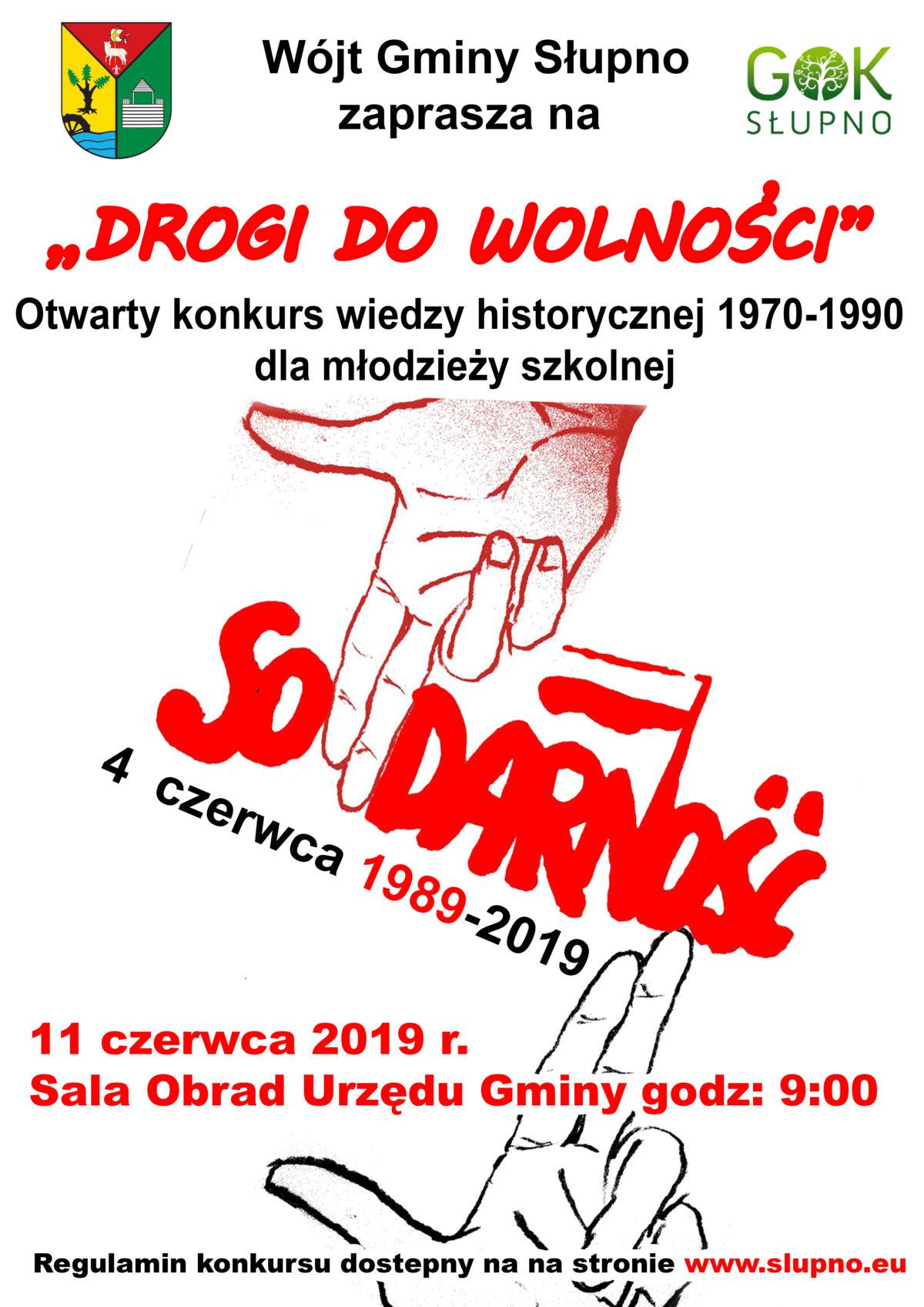 DROGI DO WOLNOŚCI – Konkurs historyczny dla młodzieży