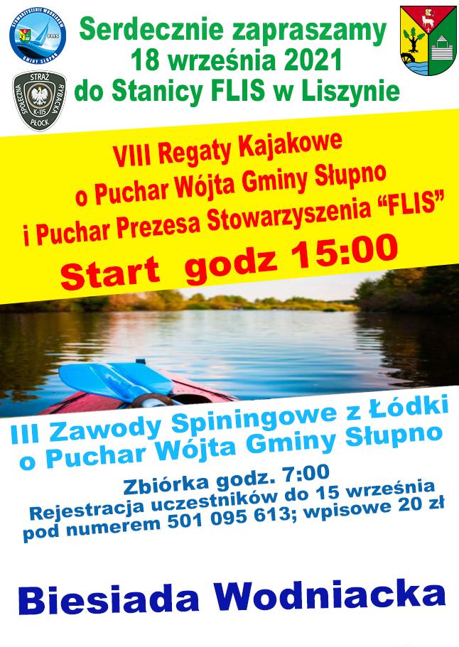 Zawody Wędkarskie i Regaty Kajakowe w Liszynie
